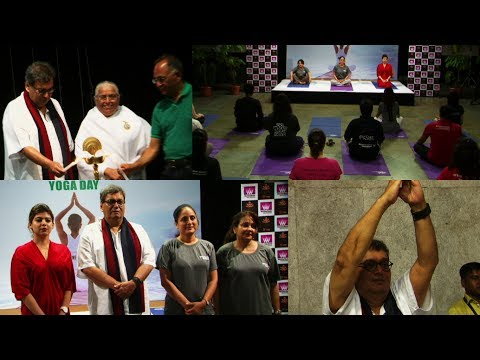 Whistling Woods Celebrate International Yoga Day With Showman Subhash Ghai