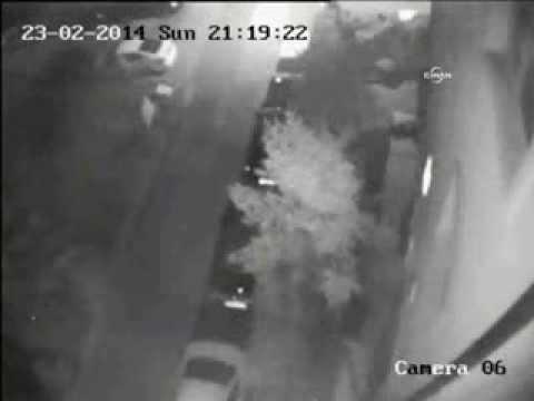 İş kadınının vurulması güvenlik kamerasında