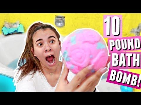 10 POUND LUSH VALENTINES BATH BOMB!! Lush's largest bath bomb tested.