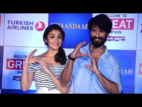 Shandaar Movie Promotions : Shahid Kapoor & Alia Bhatt