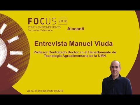 Manuel Viuda, del dpto de Tecnología Agroalimentaria UMH, en Focus Pyme Alacantí[;;;][;;;]