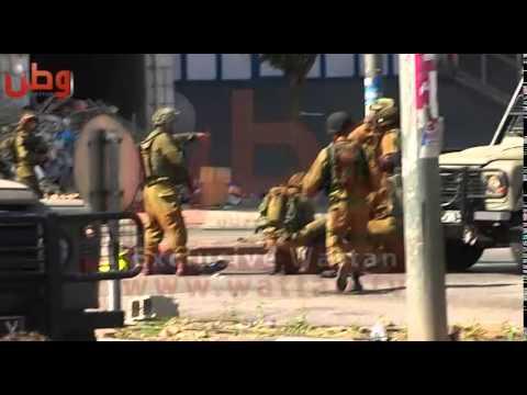 طعن جندي إسرائيلي في الخليل