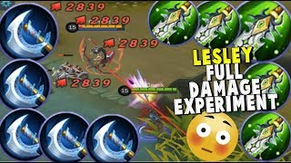 Download Video LESLEY FULL DAMAGE BUILD – CAN SHE ONE SHOT A HERO ?? - Mobile Legends MP3 3GP MP4