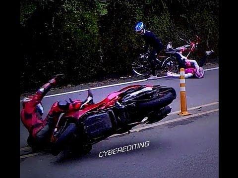 耍帥的代價,惡劣機車車手撞翻單車騎士實錄!