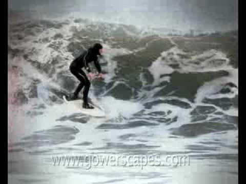 This shows some guys surfing in Langland Bay and the vid is by Gowerscrapes and taken off youtube.