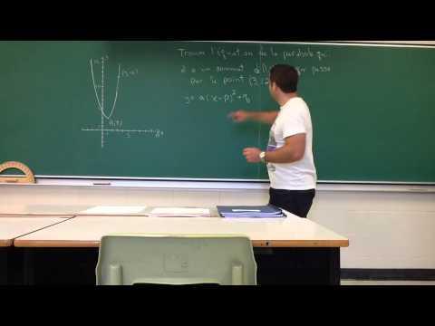 Comment Trouver L'équation D'une Parabole Avec Des Coordonnées (exemple A)