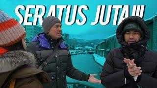 Download Video 100 Juta Buat Nyebur Di Jembatan Otaru Canal Minus 16 Derajat MP3 3GP MP4