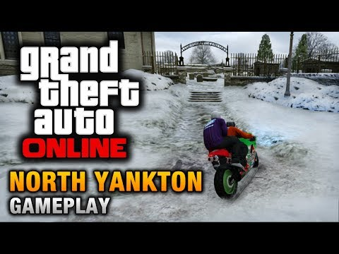 North - GTA Online - North Yankton Gameplay (How to reach North Yankton) Thanks to a glitch found by RPearsonx, you can explore Ludendorff - the small town in the st...