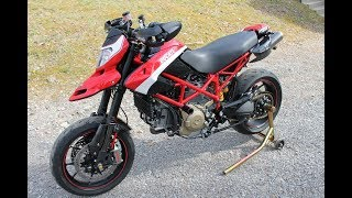 5. Ducati Hypermotard 1100evo SP walk around review ride