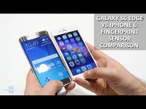 Galaxy S6 fingerprint scanner compared to iPhone 6 scanner