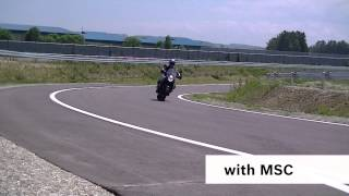 EN | Bosch Motorcycle stability control (MSC): Front-wheel braking at lean angle