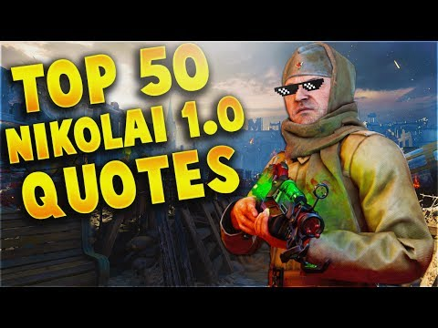 TOP 50 HILARIOUS NIKOLAI 1.0 QUOTES! (BEST NIKOLAI BELINSKI WAW-BO1 QUOTES)