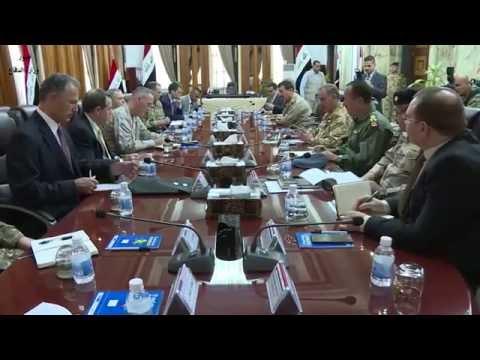 خالد العبيدي يستقبل رئيس أركان الجيوش الأمريكية وبحثا سير العمليات لتحرير الموصل