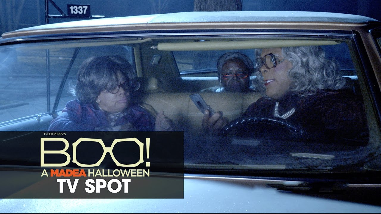 She Ain't Afraid of no Ghosts. Madea is BACK in Tyler Perry's 'Boo! A Madea Halloween' [TV Spot]