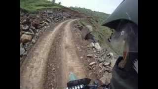 Off-roading in the Simien Mountains, Ethiopia, on a Suzuki DR650