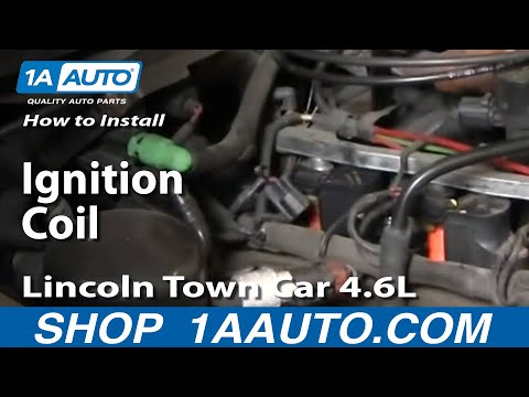 How To Fix Repair Replace Install Ignition Coil Lincoln Town Car 4.6L 98-11 1AAuto.com