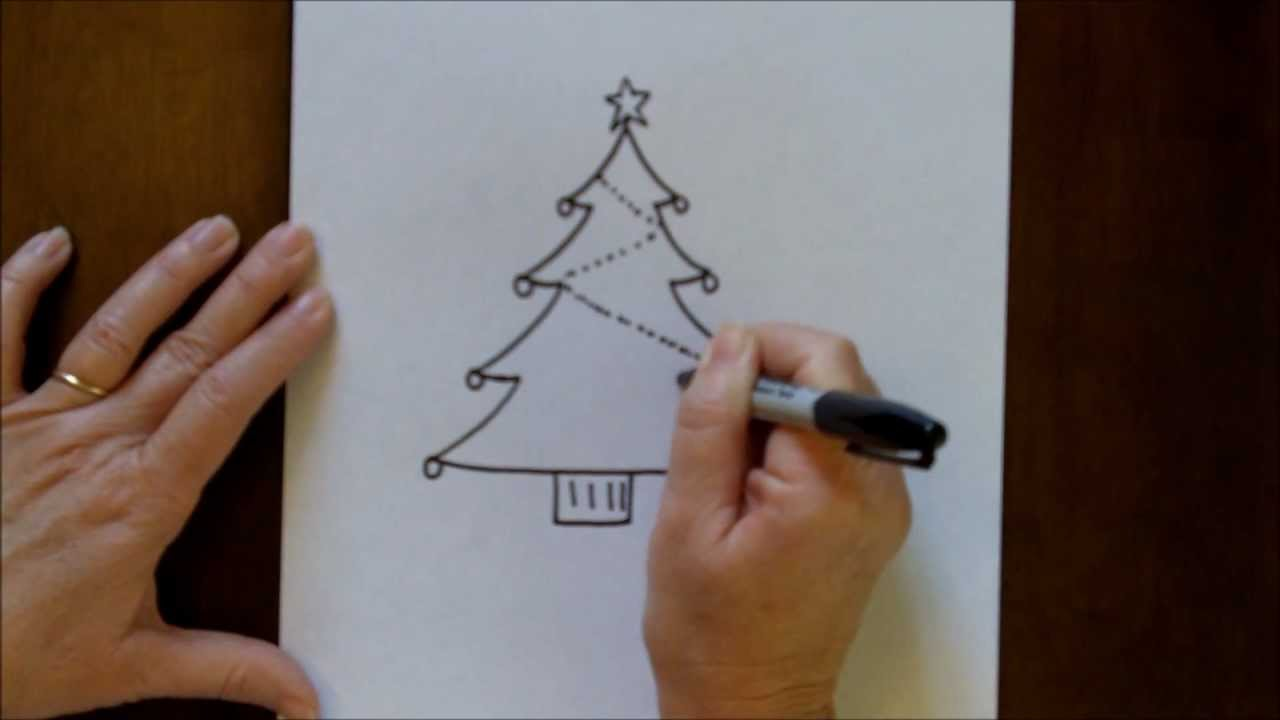 How To Draw A Christmas Tree Simple Drawing Tutorial For Beginners #  Howtodraw #drawingforchildren How