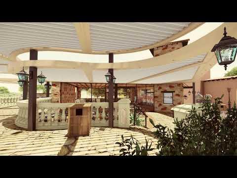 дизайн жалюзийной крыши