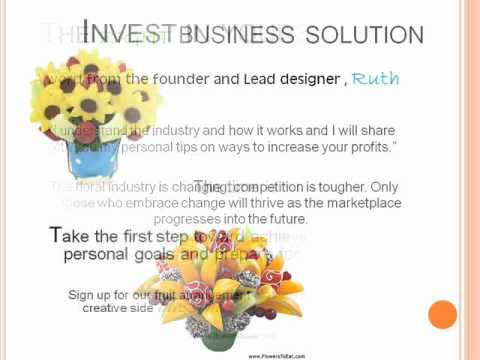 Classes to create your own fruit arrangement business