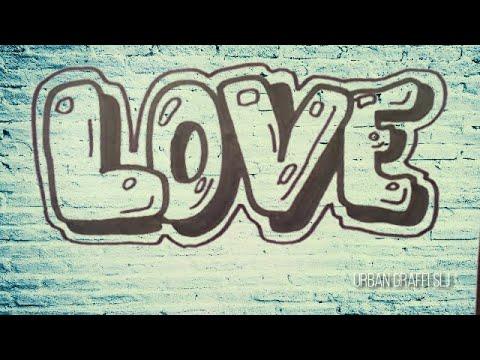 Dibujos de amor - como dibujar graffitis de amor