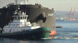 Video Foss Tugs Push Out Bulk Ship in Elliott Bay MP3, 3GP, MP4, WEBM, AVI, FLV Desember 2018