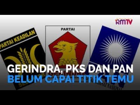 Gerindra, PKS dan PAN Belum Capai Titik Temu