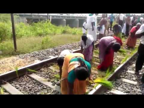 Farmers-protest-for-cauvery-water