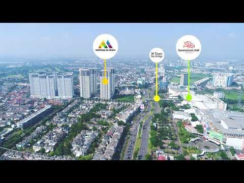 Explore Serpong M-Town Apartment from a Drone View