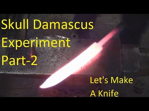 Video Blacksmithing - skull Damascus Bowie knife download in MP3, 3GP, MP4, WEBM, AVI, FLV January 2017