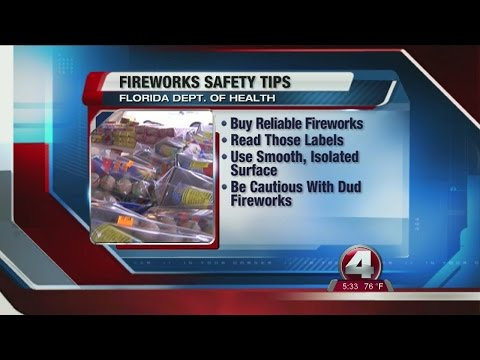 Department of Health fireworks safety tips