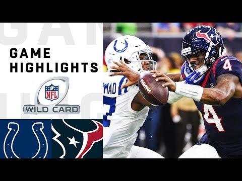 Colts vs. Texans Wild Card Round Highlights   NFL 2018 Playoffs