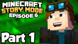 Minecraft: Story Mode [Episode 6] Part 1 - DANTDM, STAMPYLONGHEAD & MORE YOUTUBERS!! (Full Gameplay)
