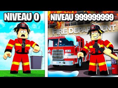 LE MEILLEUR POMPIER NIVEAU 999,999,999 DE ROBLOX ! (Roblox Firefighter Tycoon)