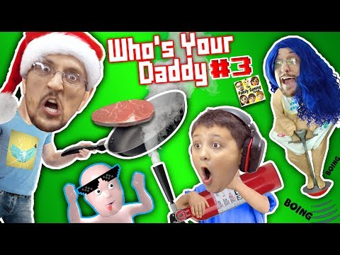 WHO'S YOUR DADDY Part 3! FGTEEV Plays 4 Challenges! Cooking, Washing, Breaking, Knocking #INSANE