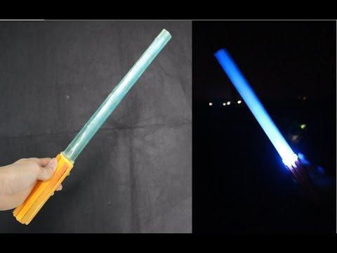 Как сделать звёздные войны из бумаги световой меч