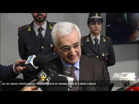 22/01/2020   PESTE SUINA: SEQUESTRATE 10 TONNELLATE DI CARNE CINESE