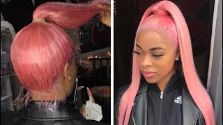 Video PINK HIGH PONYTAIL! (Using a Full Lace Wig) MP3, 3GP, MP4, WEBM, AVI, FLV Maret 2019