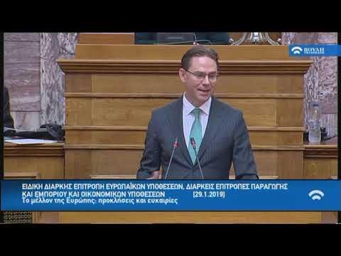 Επιτροπή Ευρωπαϊκών Υποθέσεων, Επ.Παραγωγής και Εμπορίου και Επ. Οικονομικών (29/01/2019)