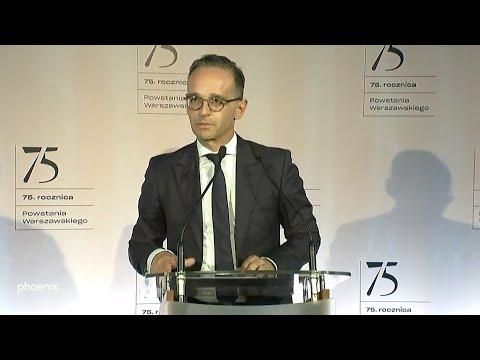Warschauer Aufstand: Reden der Außenminister Maas & C ...