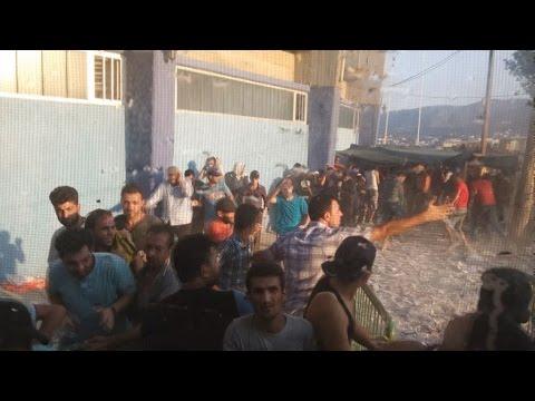 Επεισόδια στο λιμάνι της Μυτιλήνης μεταξύ μεταναστών