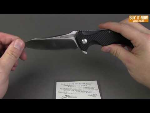 "Brous T4 Tanium Design Flipper Knife G10 (4"" Black Plain)"