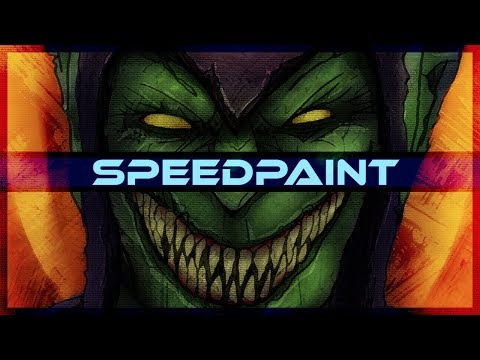 Green Goblin Marvel Comics Speedpaint on PSD - Thời lượng: 10 phút.