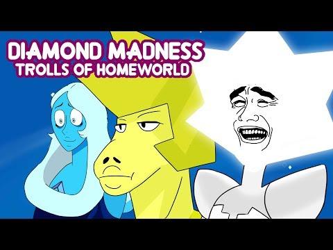Diamond Madness - Trolls of homeworld ( with Animatic Previews) steven universe comic episode 53