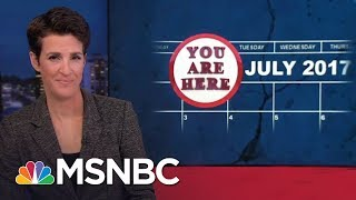 Rachel Maddow reviews the development of the President Donald Trump Russia investigation over past seven months, one...
