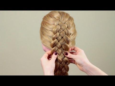 как сделать из пяти прядей косу