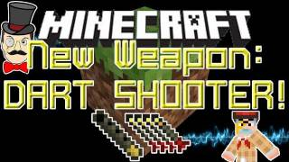 Minecraft Aether Mod New Weapons: DART SHOOTER and DARTS Tutorial!
