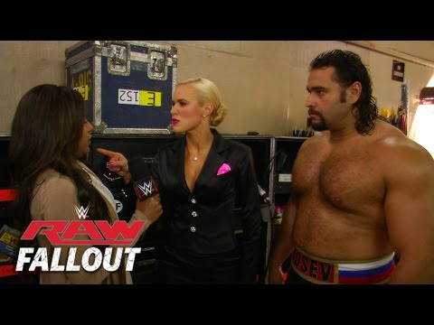 Raw - Lana is furious over Big Show's actions on Raw. More ACTION on WWE NETWORK : http://bit.ly/1u4pM74 Don't forget to SUBSCRIBE: http://bit.ly/1i64OdT.