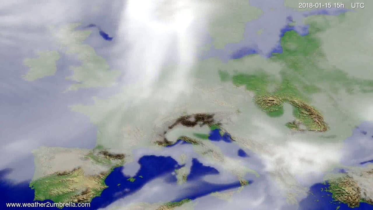 Cloud forecast Europe 2018-01-13