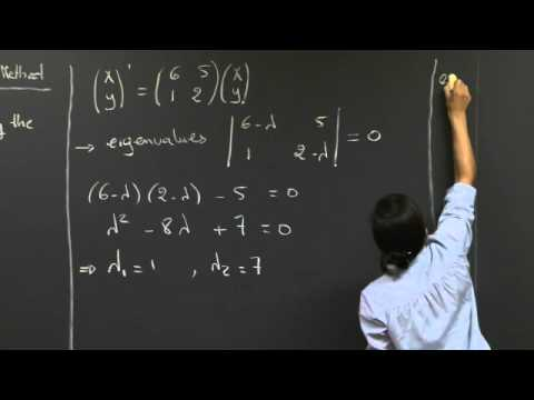 Linear Systems: Matrix Methods | MIT 18.03SC Differential Equations, Fall 2011