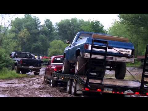 Ford has to pull out stuck Dodge and Chevy